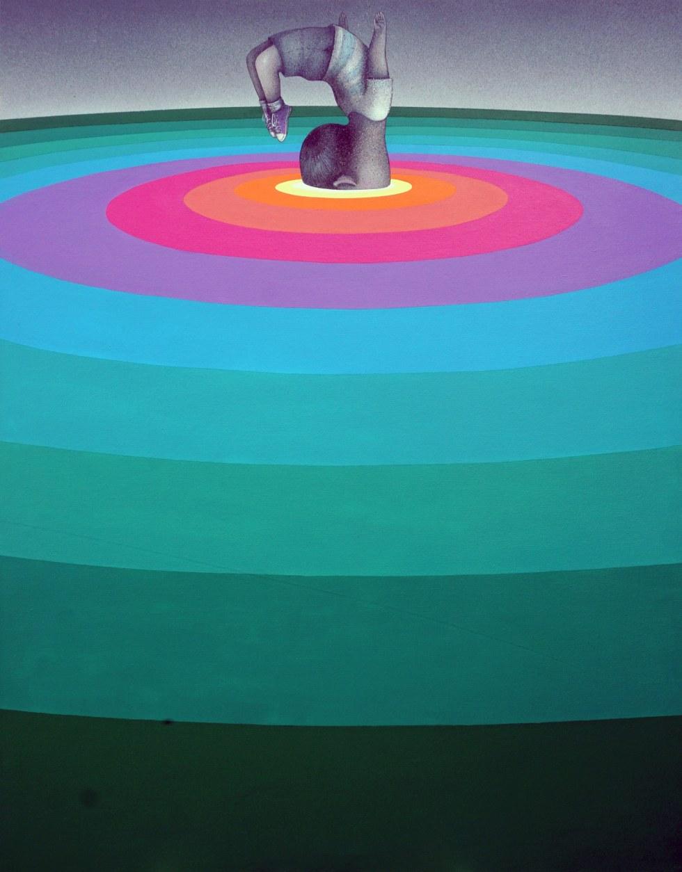 """Aut Viam Inveniam Aut Faciam,"" Acrylic and spray paint on canvas, 114 x 146 cm"