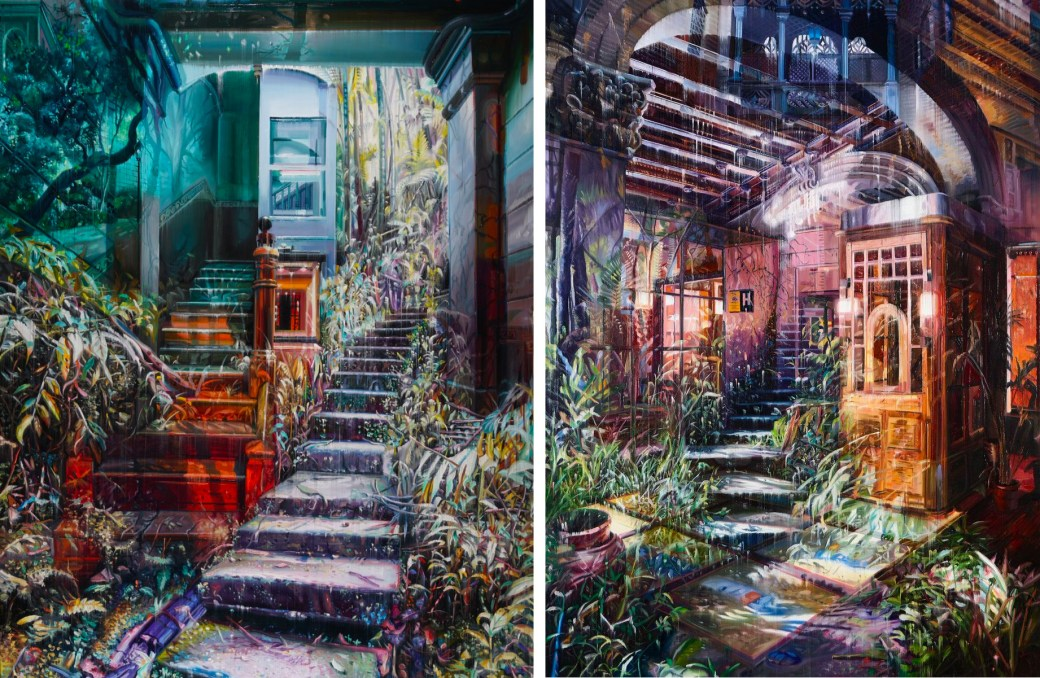 Multi-Layered Oil Paintings by Jacob Brostrup Blur Natural and Built Environments 1