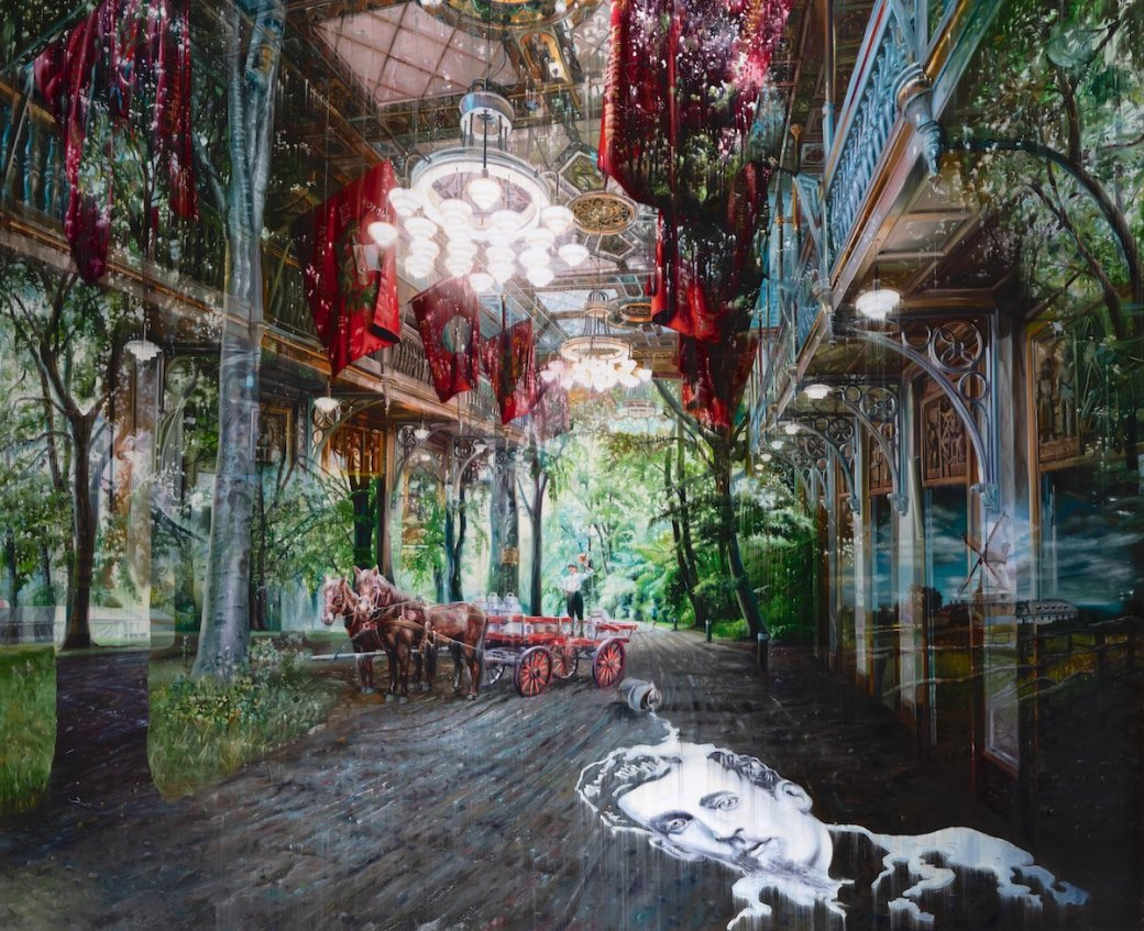 Multi-Layered Oil Paintings by Jacob Brostrup Blur Natural and Built Environments 5