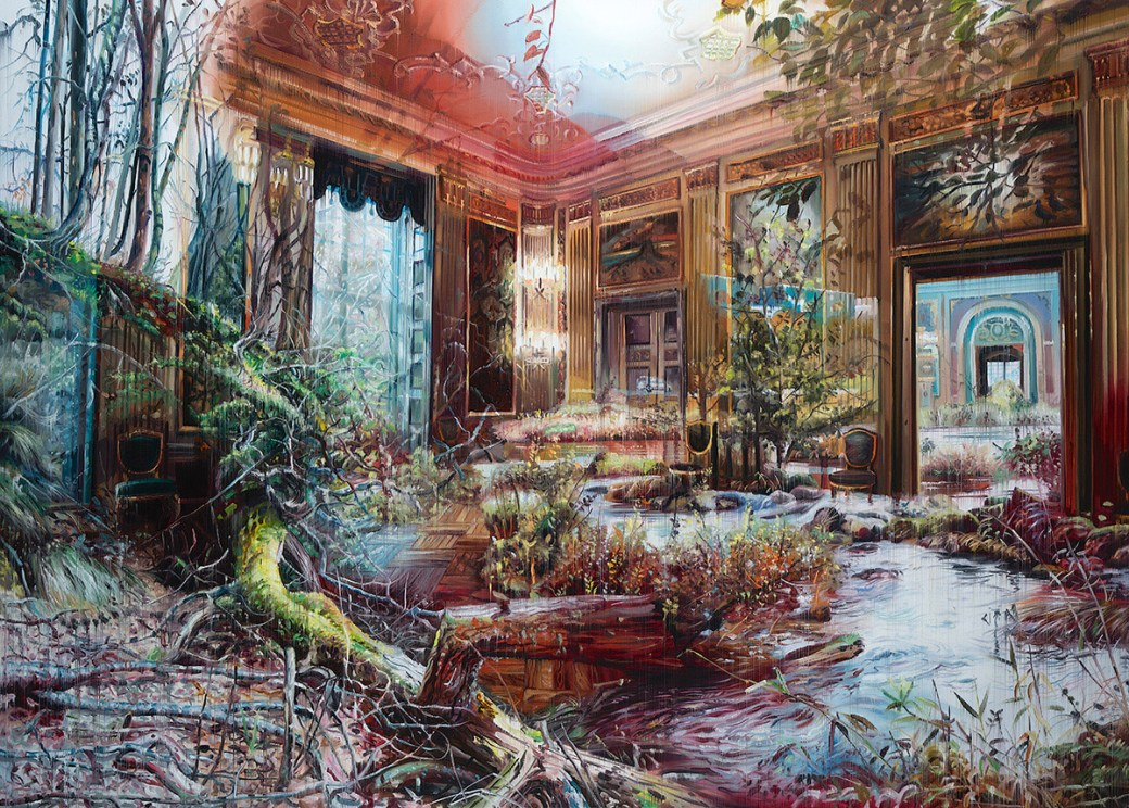 Multi-Layered Oil Paintings by Jacob Brostrup Blur Natural and Built Environments 2