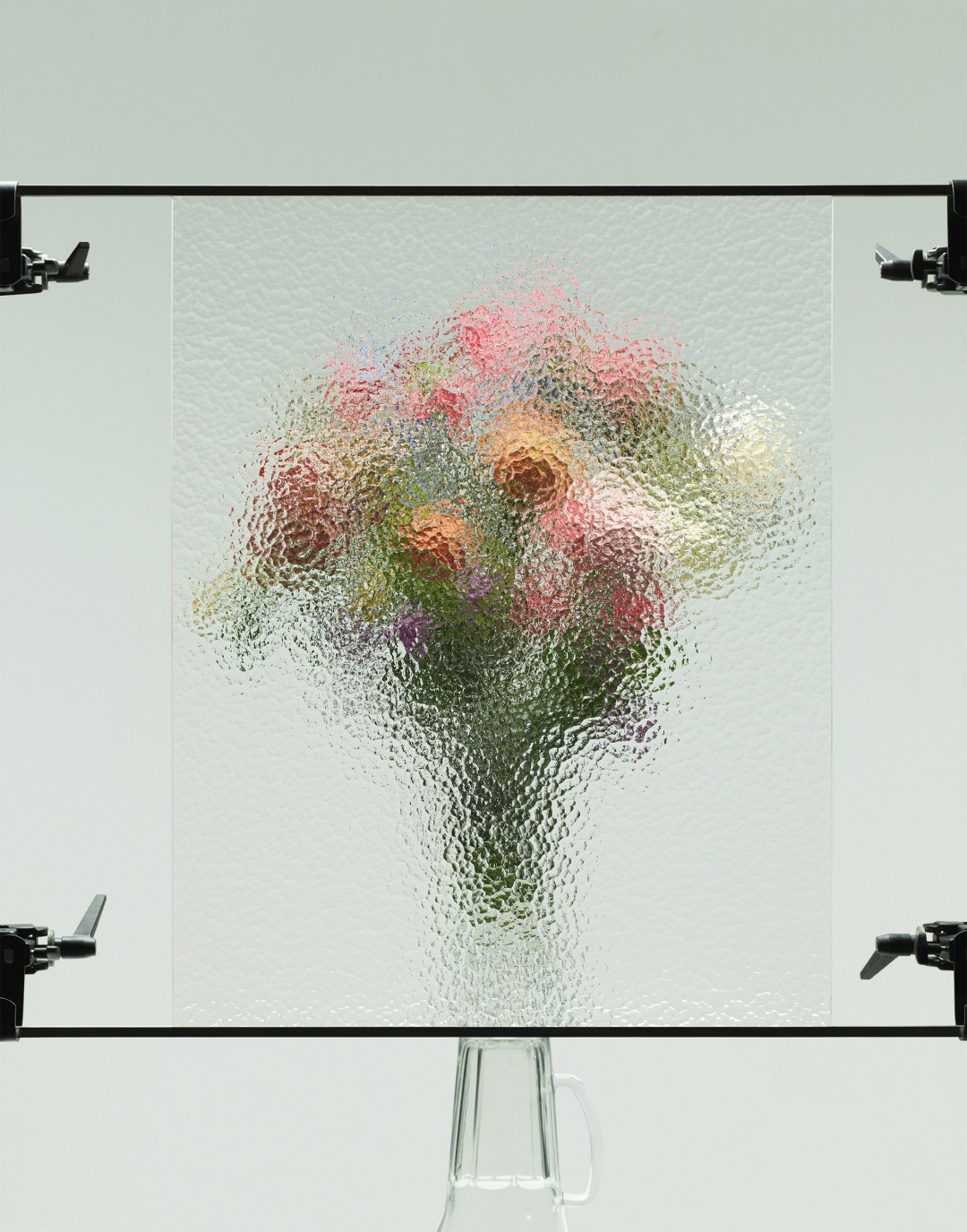 Sheets of Frosted Glass Obscure Floral Bouquets in a Photographic Series About Ambiguity