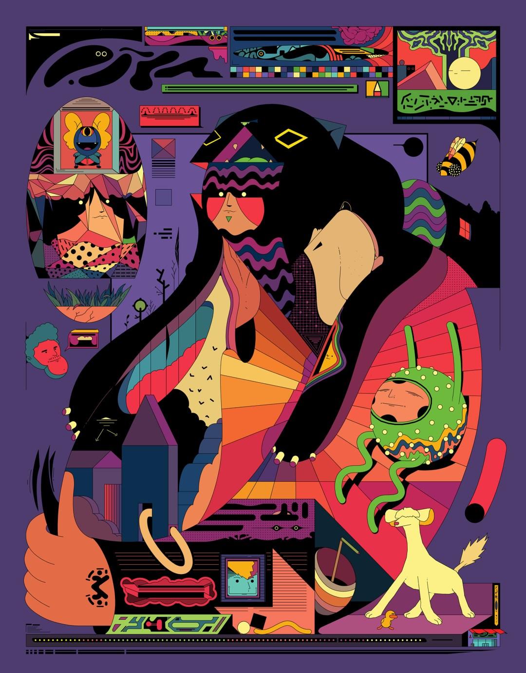 Fantastical Cartoons, Robotic Pets, and Vibrant Architecture Populate Digital lllustrations by Ori Toor