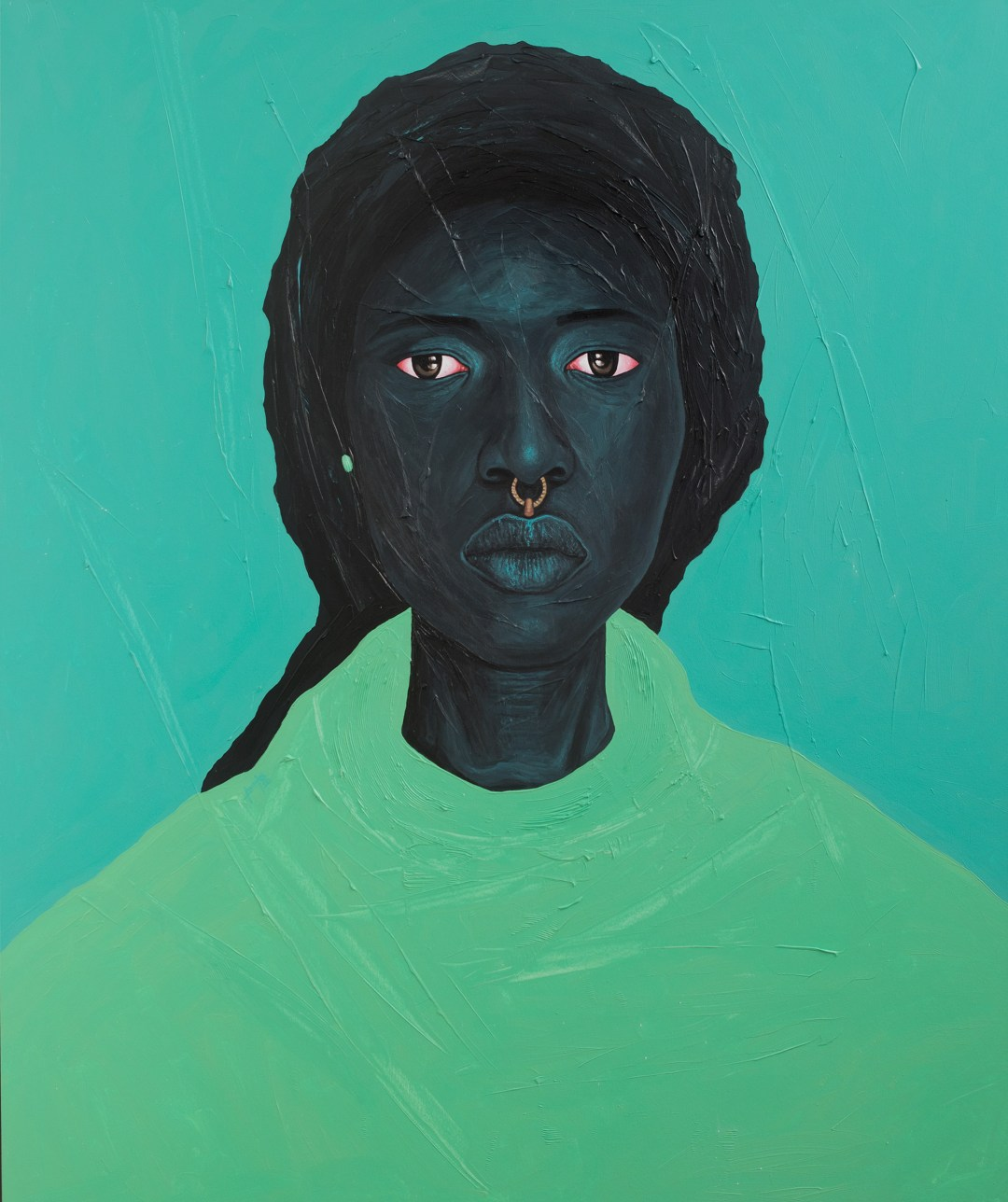 Red-Eyed Subjects Peer Forward in Bright, Impasto Portraits by Artist Annan Affotey