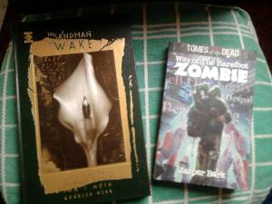 The Sandman by Neil Gaiman and Way of the Barefoot Zombie by Jasper Bark