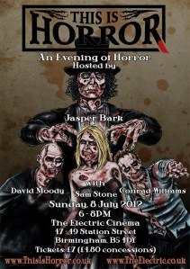 evening of horror - David Moody, Sam Stone, Conrad Williams, Jasper Bark