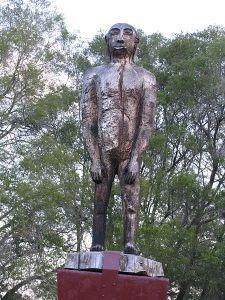 Yowie statue