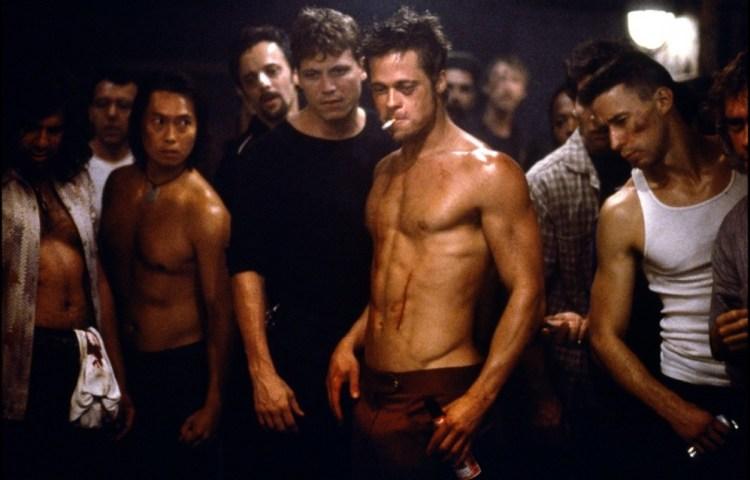Brad Pitt Fight Club body shot