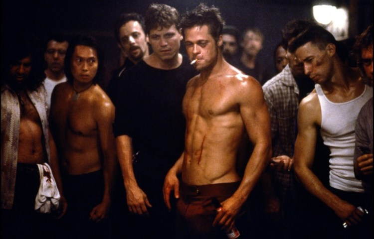 Brad Pitt Fight Club body shot