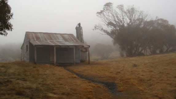 a remote mountain shelter, lonely and isolated, solitary seclusion
