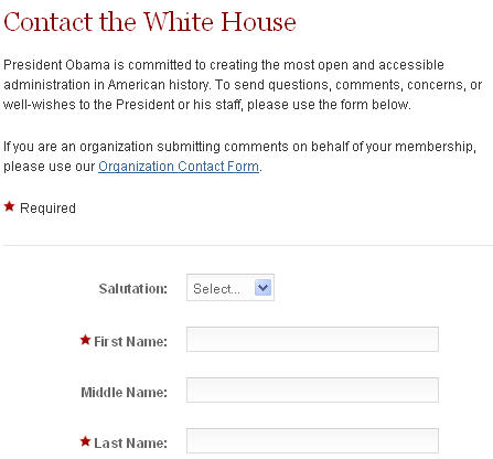 how to contact president