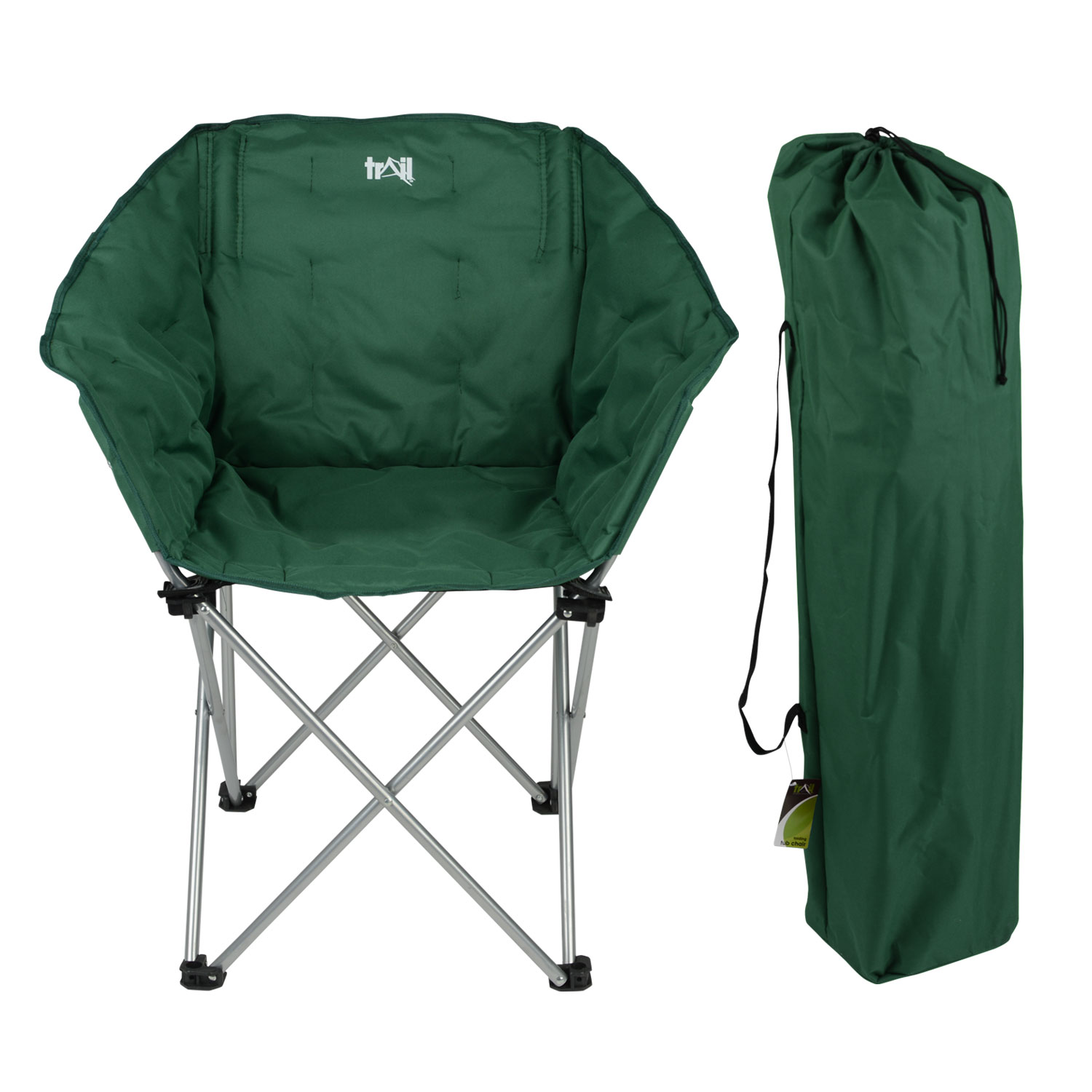 padded folding chairs uk dining chair seat covers john lewis trail tub thick heavy duty camping