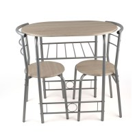 3 Piece Dining Set Breakfast Bar Kitchen Table Chairs ...
