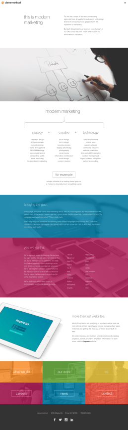 what we do page design