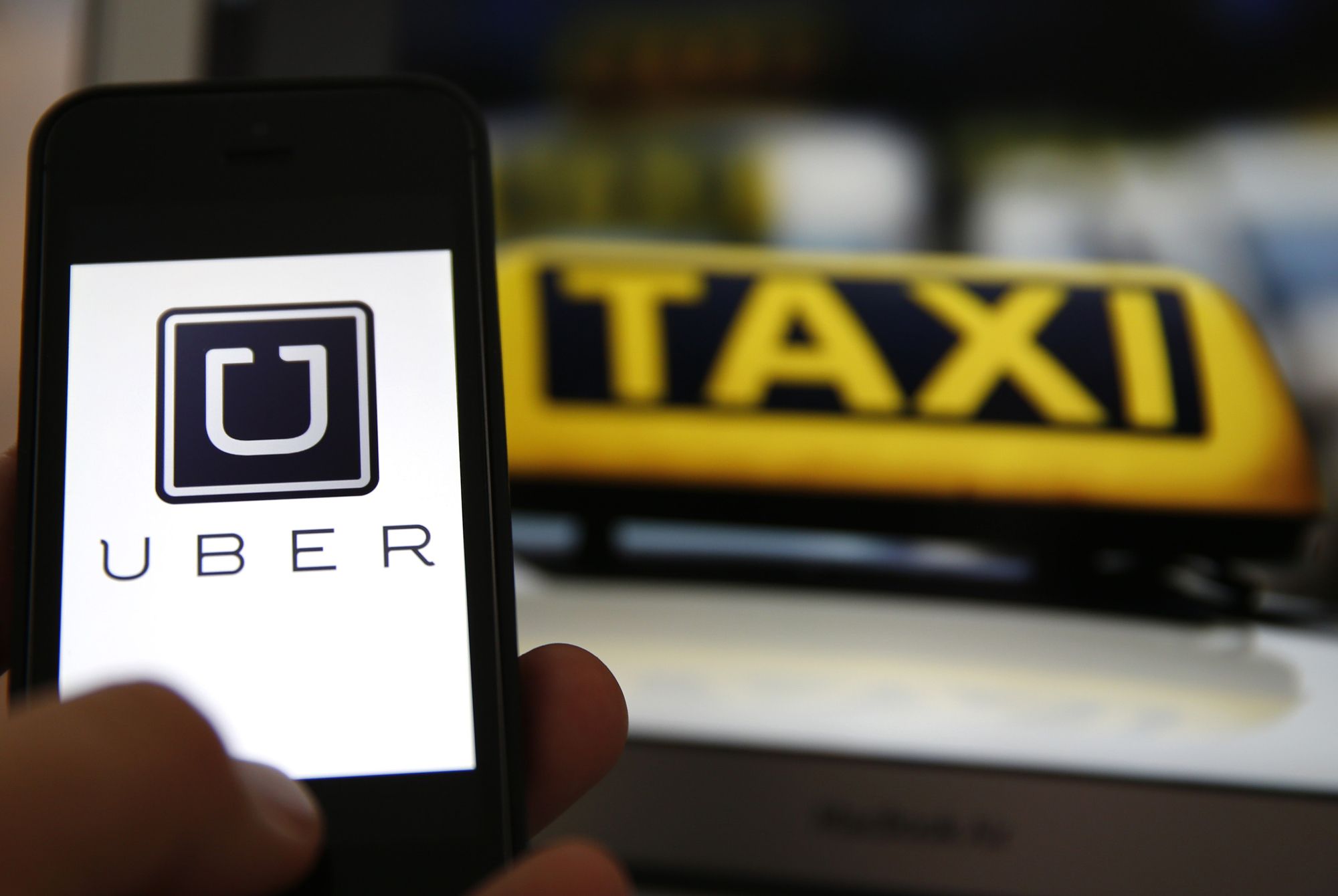 This Is Local London: APP: The Uber app being used on a smartphone