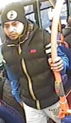 Police want to speak to this man in connection with the incident on January 26.