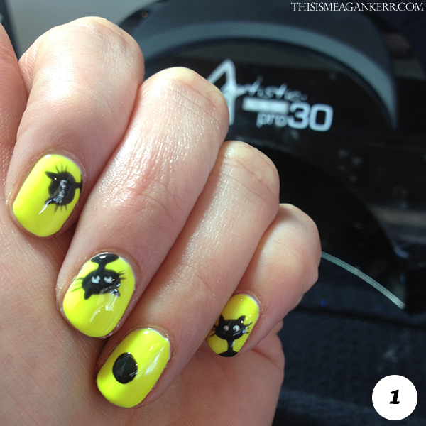 This Black Cat Nail Art Tutorial Is As Easy It Adorable