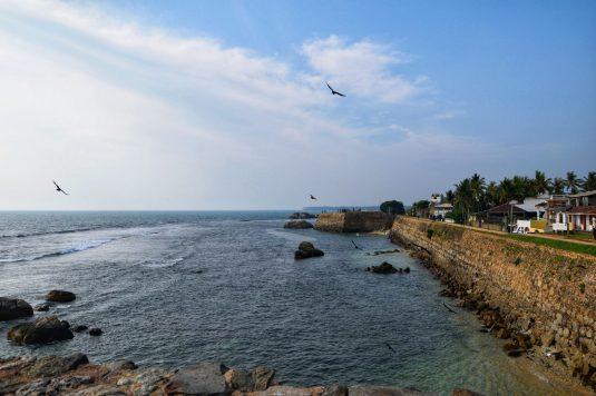 Le mura del forte di Galle