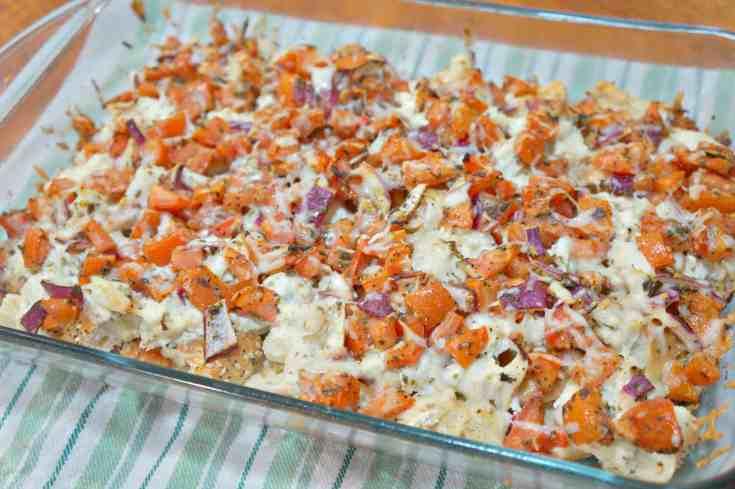 Chicken Bruschetta Casserole