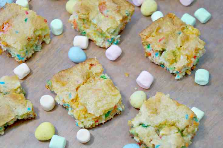 Springtime Funfetti Bars with Mini Eggs