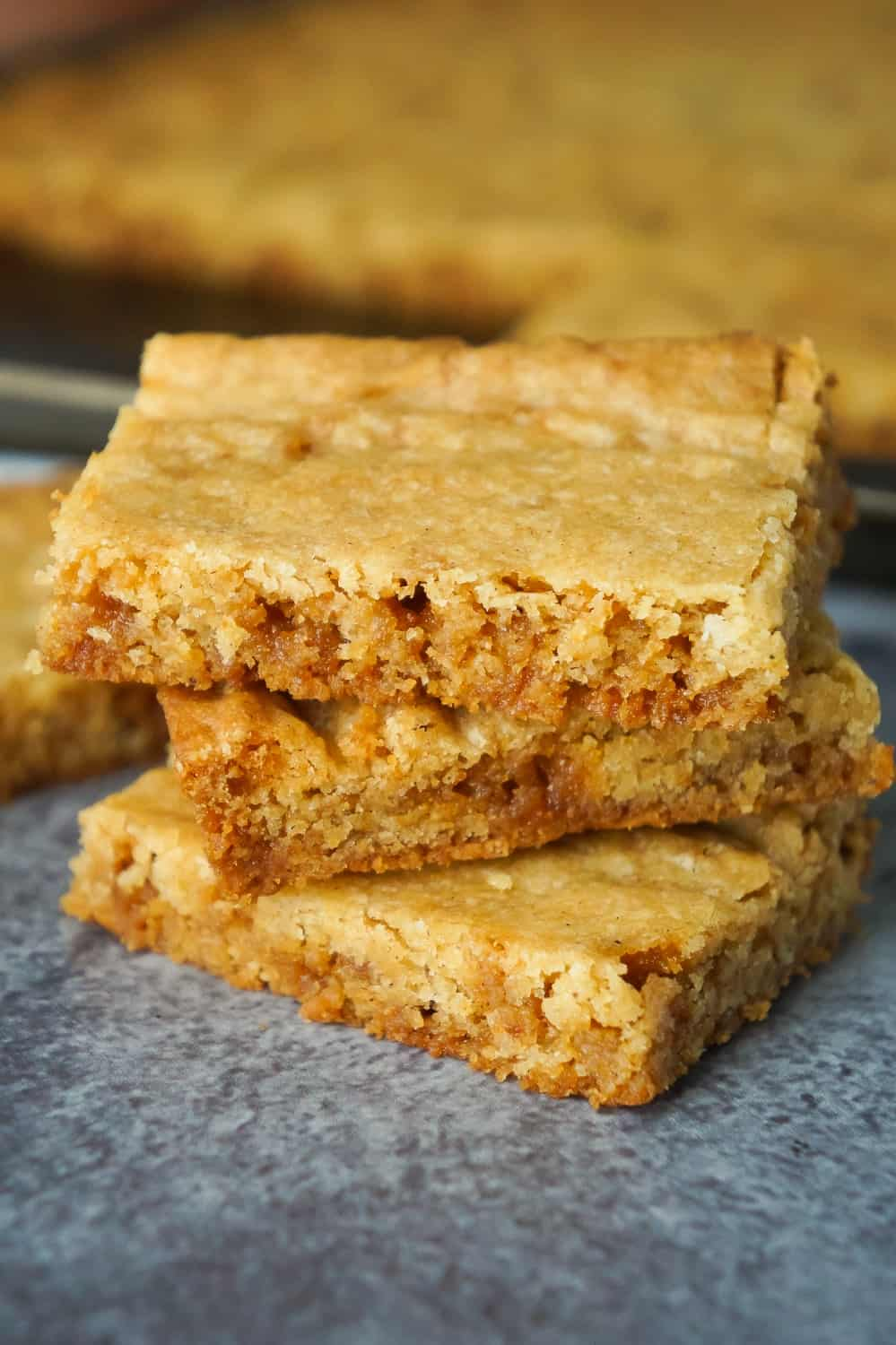 Pumpkin Spice Pudding Sugar Cookie Bars are an easy fall dessert recipe. These simple sugar cookie bars are made with Betty Crocker sugar cookie mix, pumpkin pie spice and toffee bits.