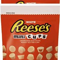 NEW Reese's White Chocolate Peanut Butter Cups Minis Candy: 8-Ounce Bag (2)