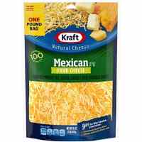Kraft Cheese, 4 Cheese Mexican Style Blend, Finely Shredded, 16 oz