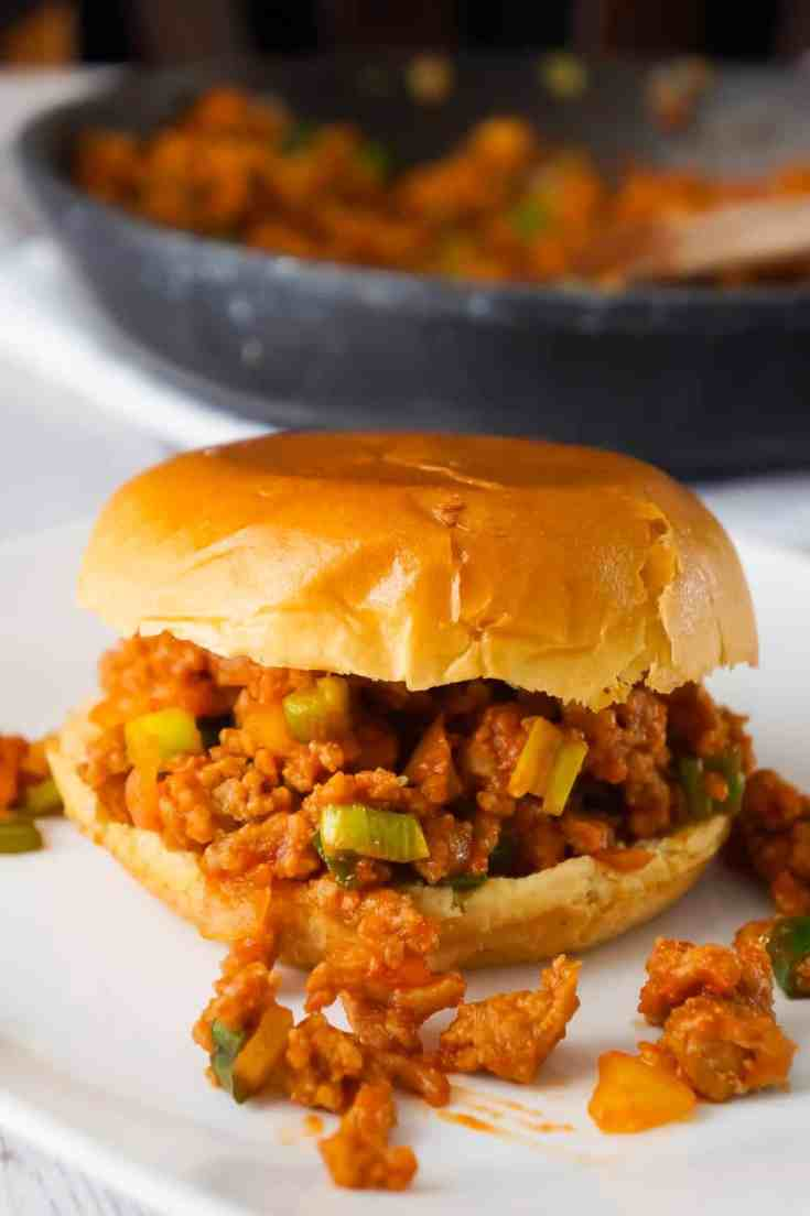 Turkey Sloppy Joes are an easy dinner recipe perfect for busy weeknights. These tasty sandwiches are loaded with ground turkey tossed in a homemade sloppy joe sauce.