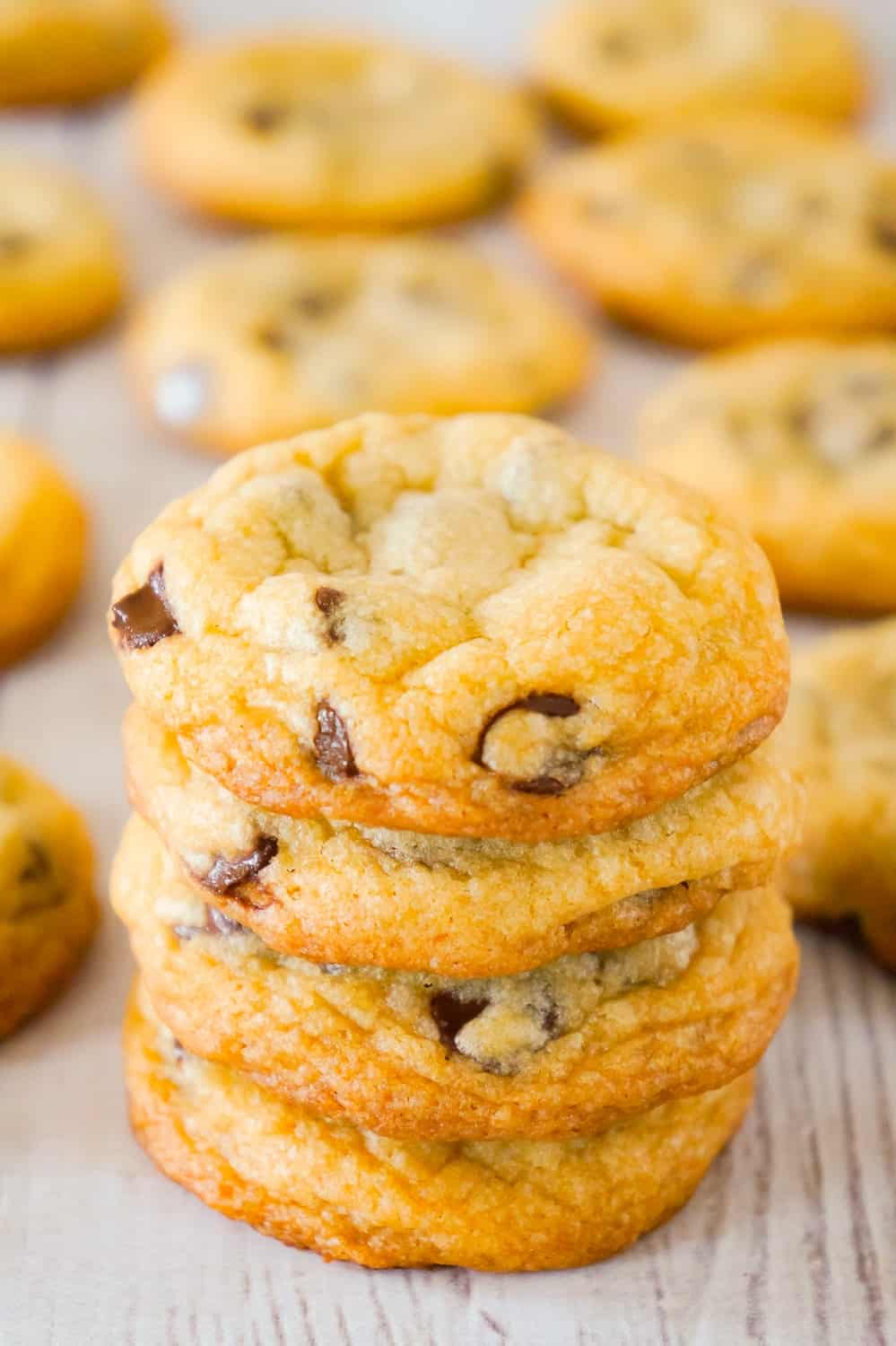 Chocolate Chip Cookies with Crisco are an easy and addictive cookie recipe using Golden Crisco instead of butter. These chewy chocolate chip cookies are loaded with semi sweet chocolate chips.