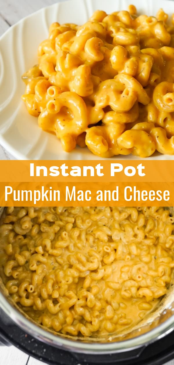 Instant Pot Pumpkin Mac and Cheese is a delicious pressure cooker pasta recipe using canned pumpkin, cavatappi noodles and Havarti cheese.