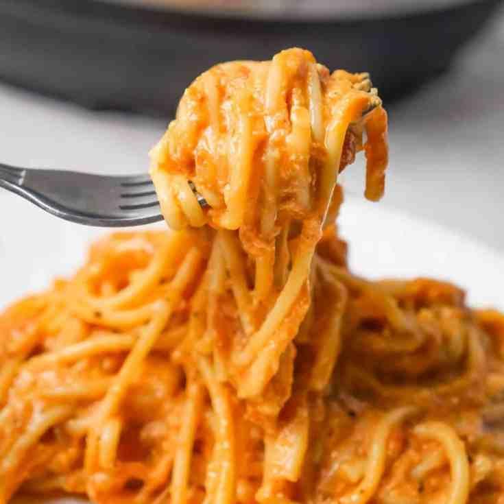 Instant Pot Spaghetti with Ricotta
