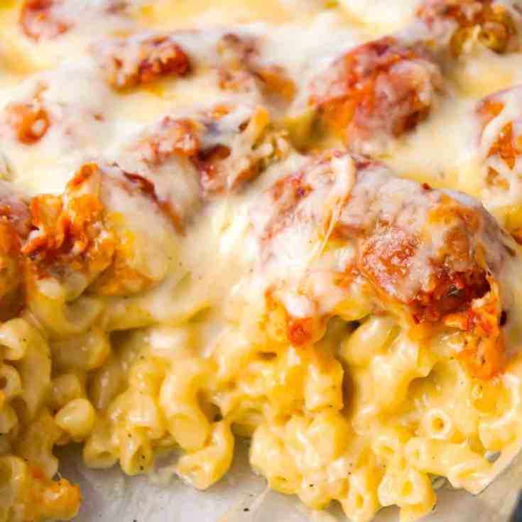 Chicken Parmesan Mac and Cheese