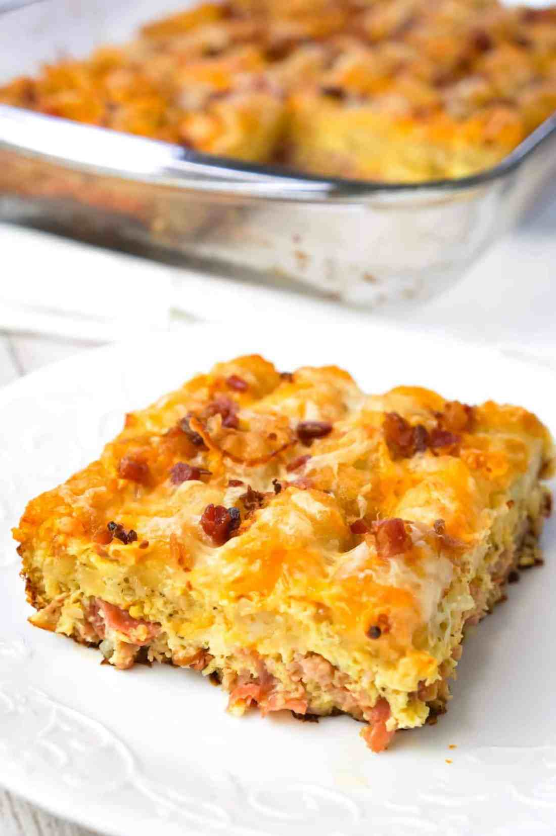 Tater Tot Breakfast Casserole - This is Not Diet Food