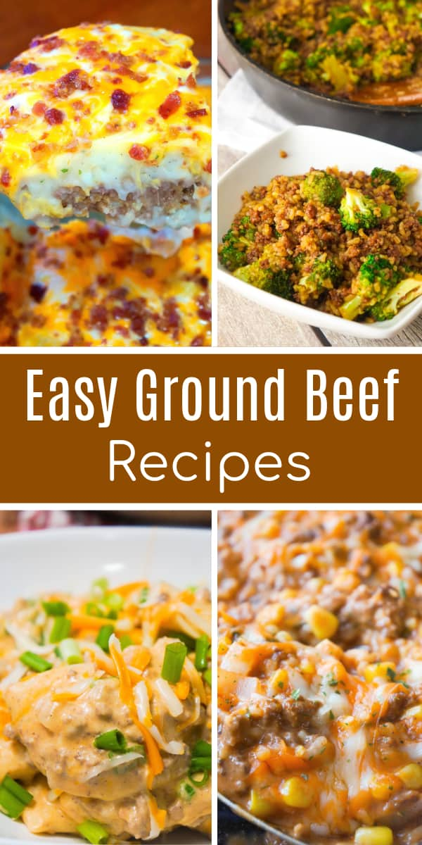 Easy ground beef recipes including ground beef casseroles, ground beef and rice dishes, hamburger soup and sandwiches with ground beef.