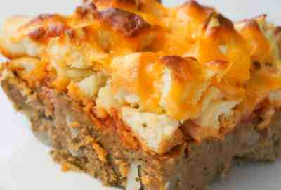 Easy ground chicken casserole piece