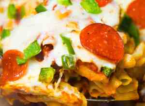 Pizza Roll Pasta Casserole is an easy dinner recipe.