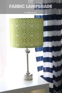 How to: DIY fabric lampshade - This is our Bliss