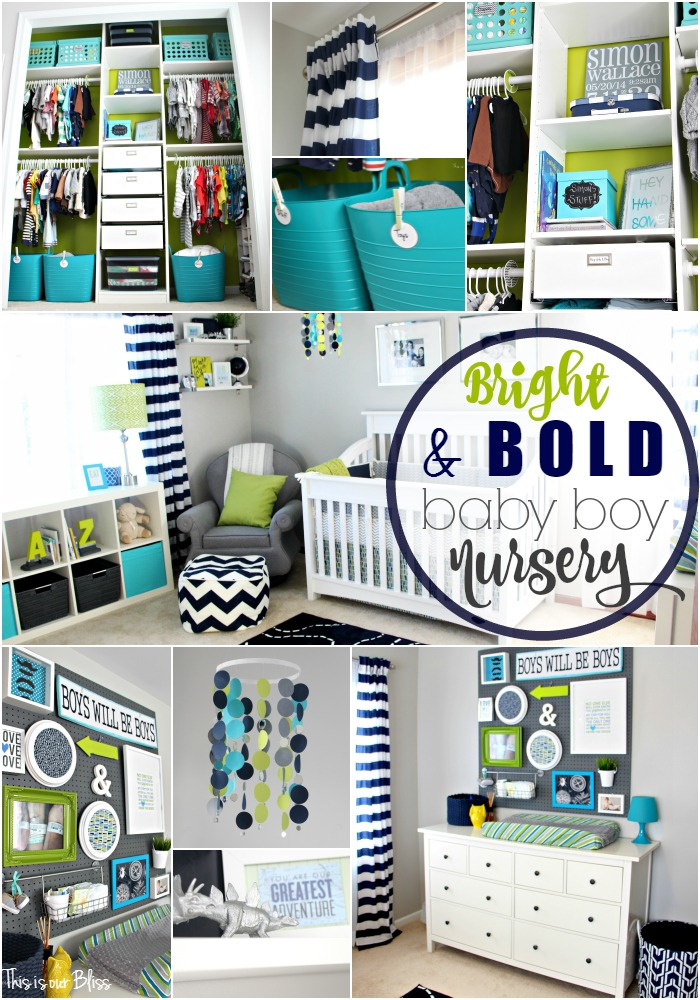 Simon's Nursery Reveal [A Bright & Bold Room for Baby #2]