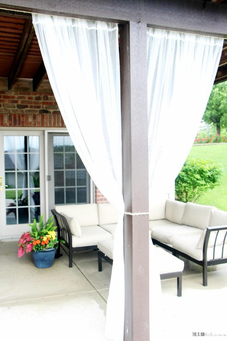 diy under deck outdoor curtains for