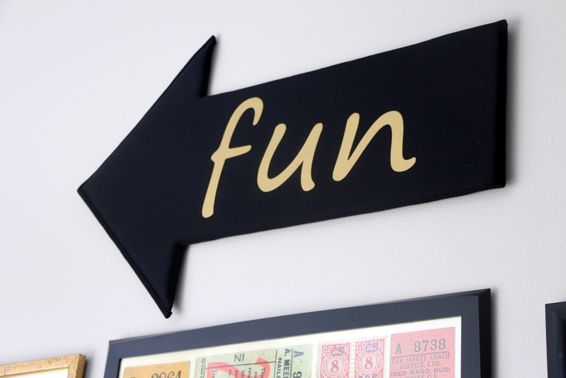 DIY Fun Arrow | DIY Playroom Decor | This is our Bliss | www.thisisourbliss.com
