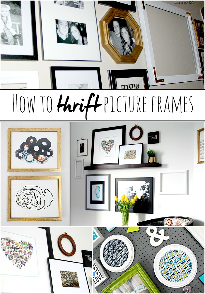 How to Thrift Picture Frames [tips for finding pieces for a Gallery Wall]