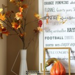 Fall Entryway Fall Vignette Entryway Table Styling Fall Decor Neutral Fall Decor Diy Fall Word Art Leaves Open Frame This Is Our Bliss This Is Our Bliss