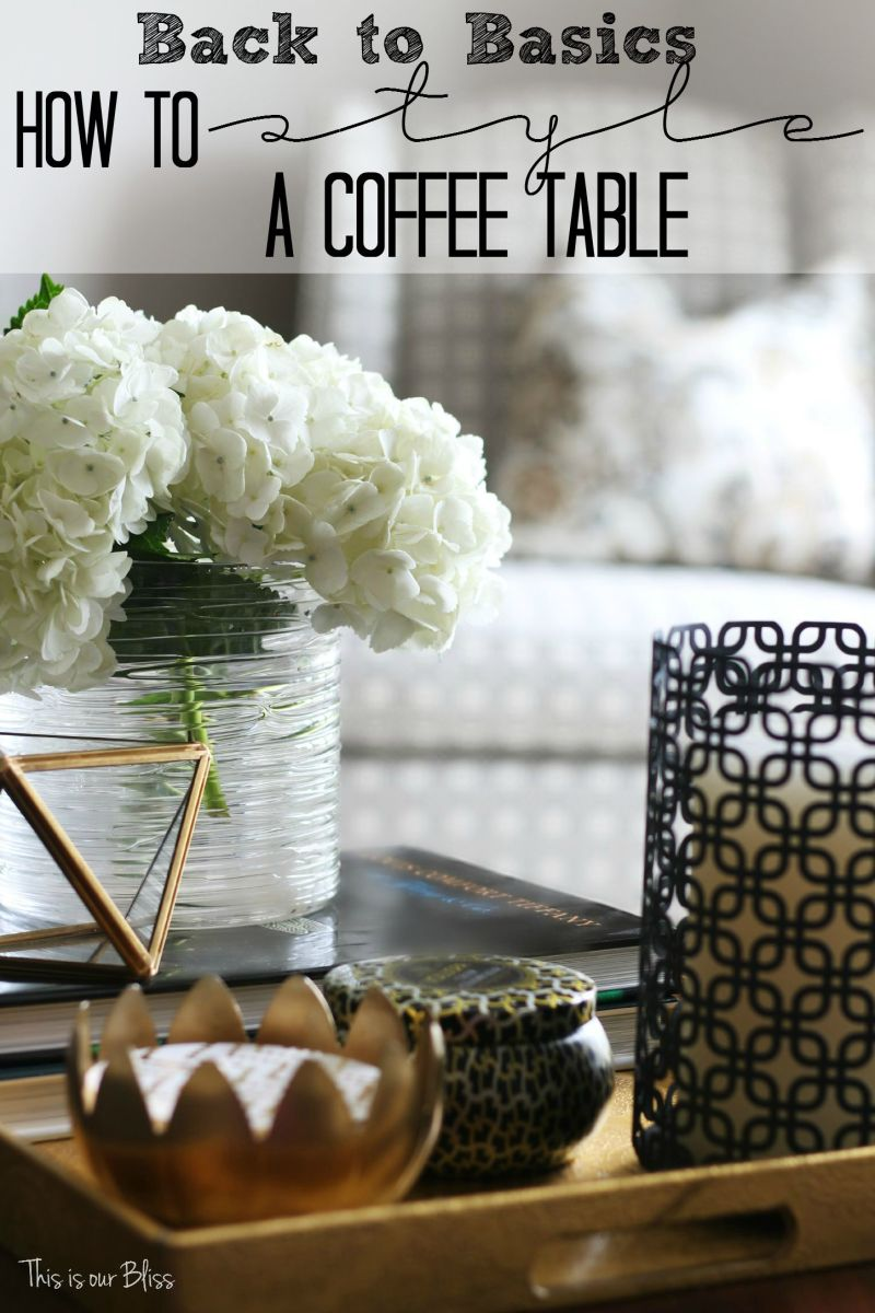 How to Style a Coffee Table | Back to Basics Week #4