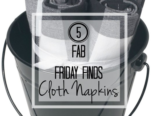 5 fab friday finds - cloth napkins