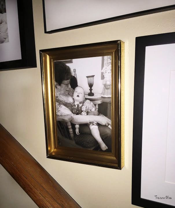 Grandma & Henry on stairway gallery wall - This is our Bliss