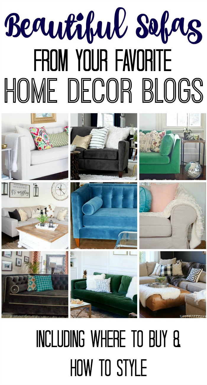Beautiful sofas and styling tips from your favorite Home Decor Bloggers! | This is our Bliss
