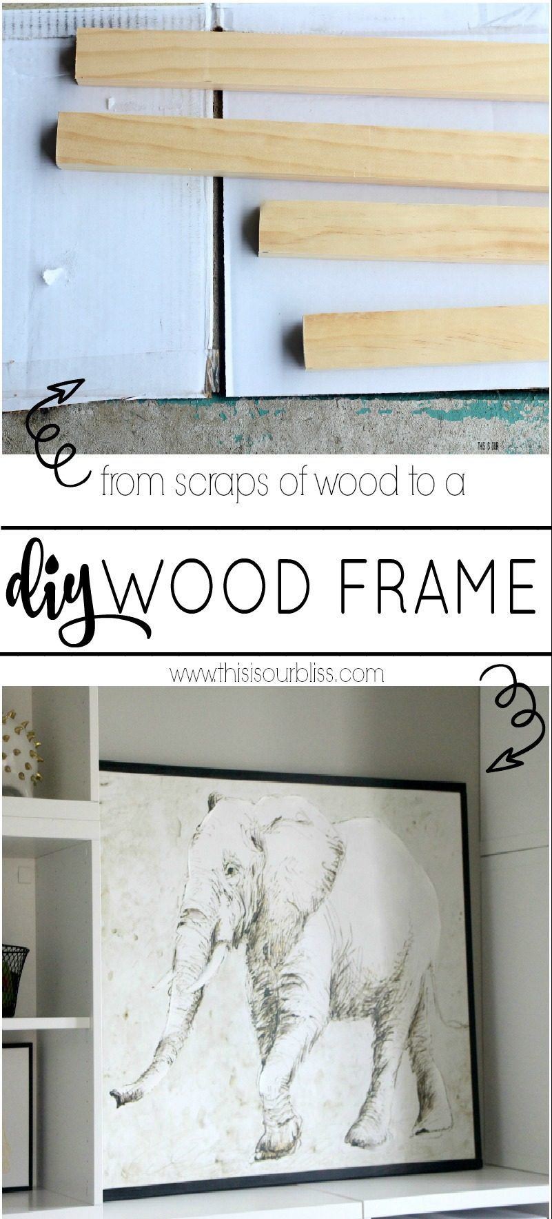 How to Make A Wood Frame for a Canvas | DIY Tutorial | This is our Bliss