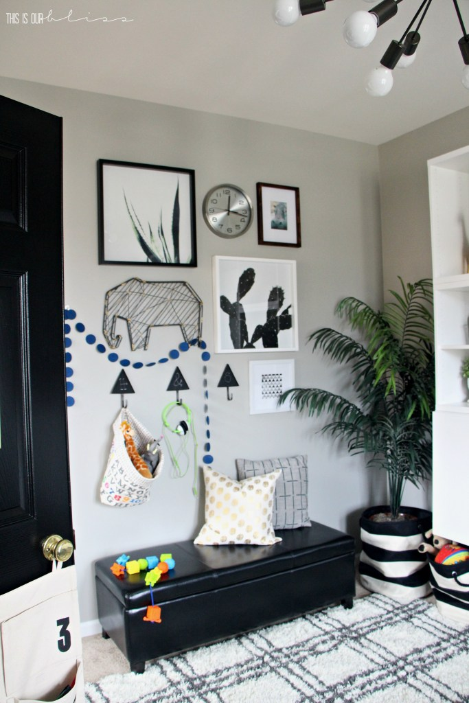 Stylish and Bold Modern Playroom Reveal | New Year New Room Refresh Challenge | Modern Safari with Neutral decor | This is our Bliss