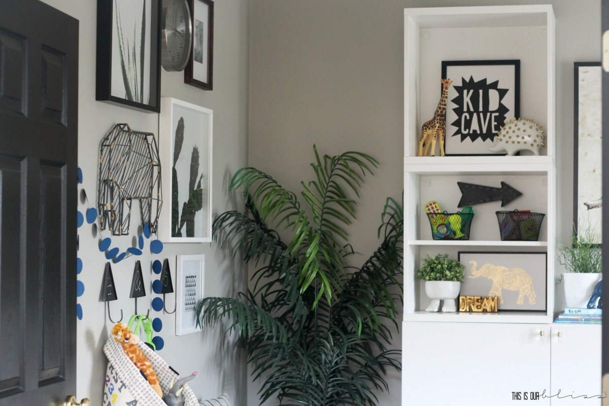 Stylish and Bold Modern Playroom Reveal | New Year, New Room Refresh Week 4
