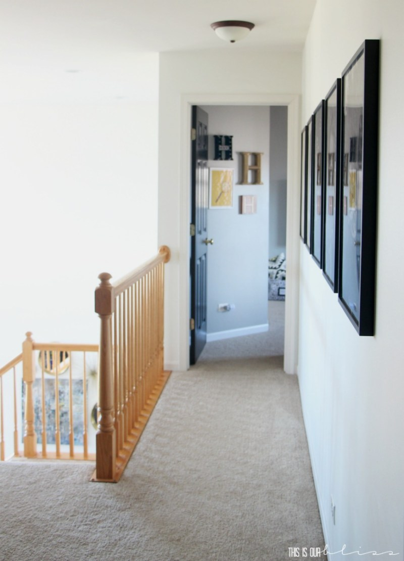 How to Create a Statement Wall with Large-scale Photos in Your Hallway | This is our Bliss