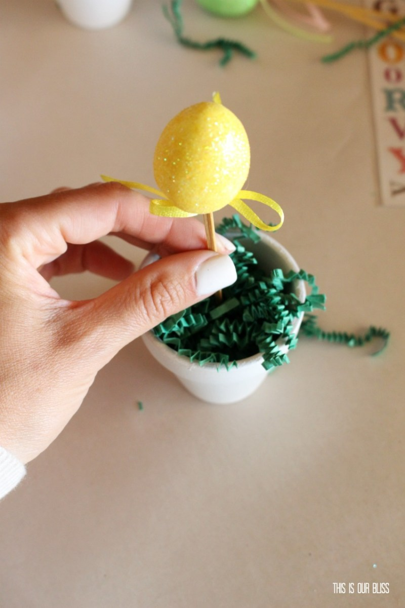 DIY Easter Egg Topiary Placecard   This is our Bliss